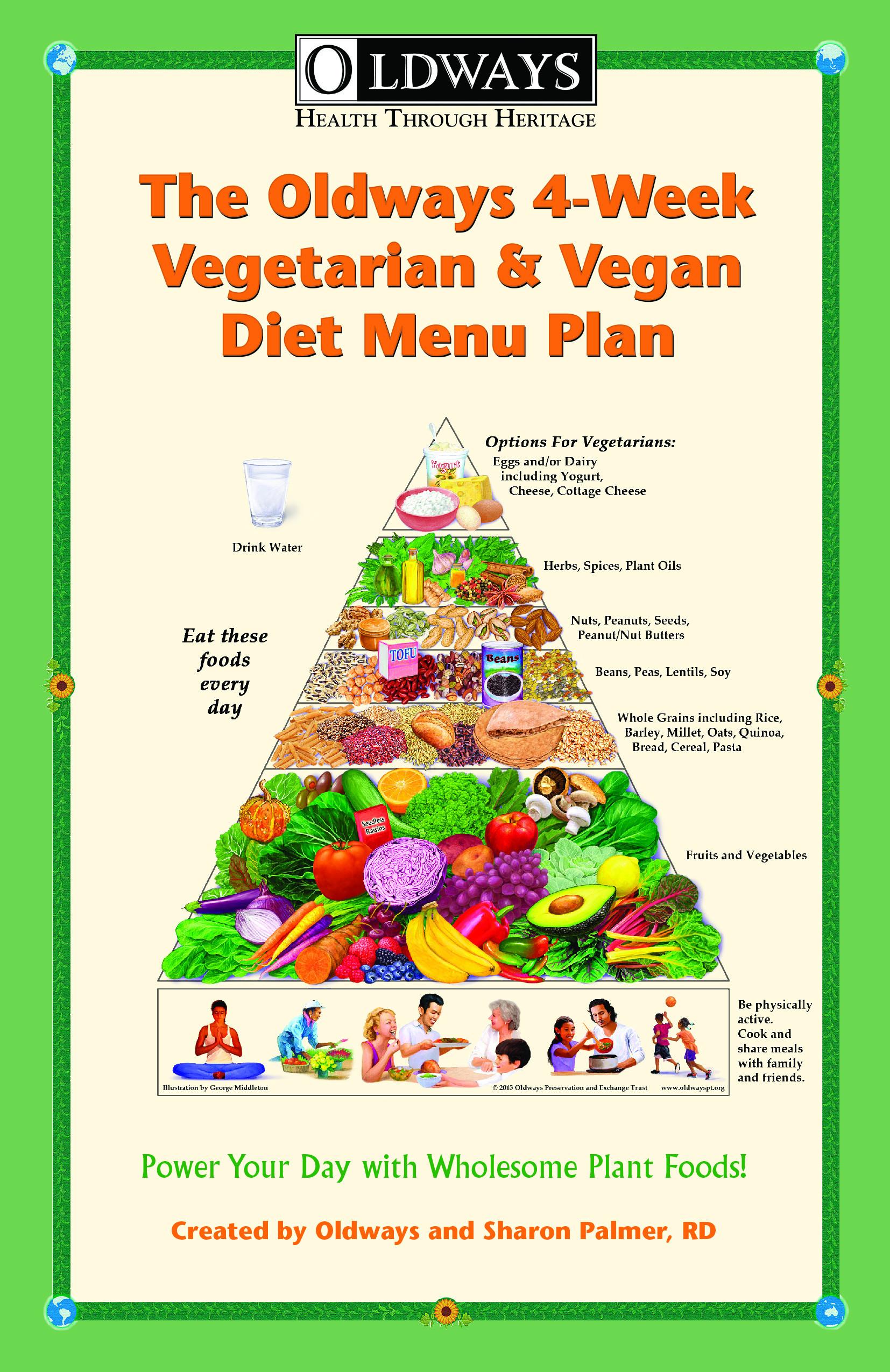 Vegan Plan Menu  The Oldways 4 Week Ve arian & Vegan Diet Menu Plan