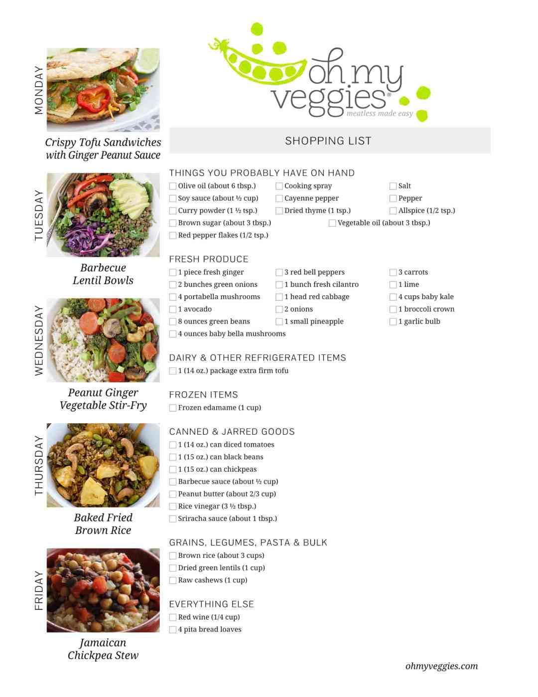 Vegan Plan Menu  Vegan Meal Plan