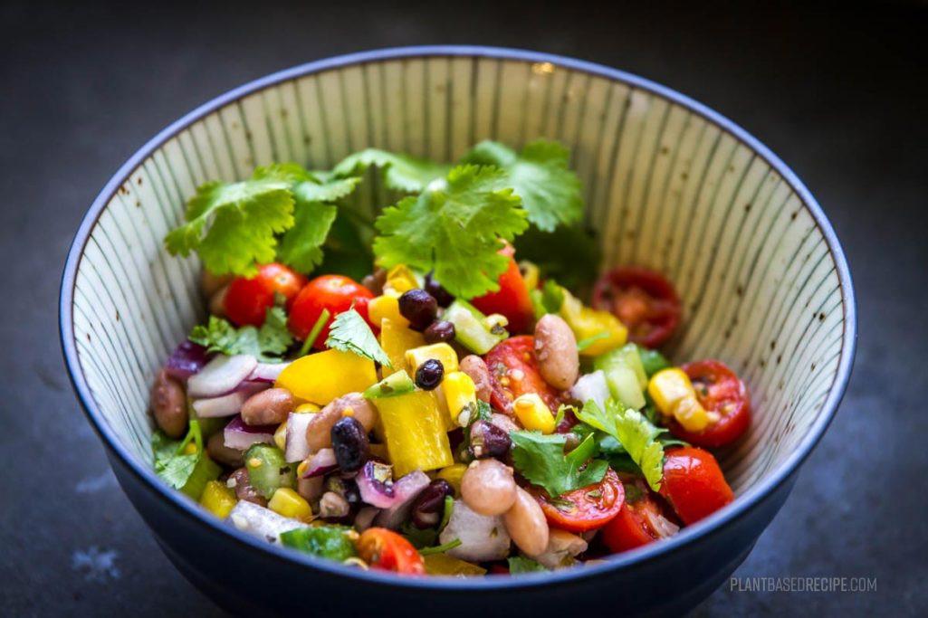 Vegan Plant Based Recipes  Cowboy caviar A savory sweet and spicy vegan bean salad