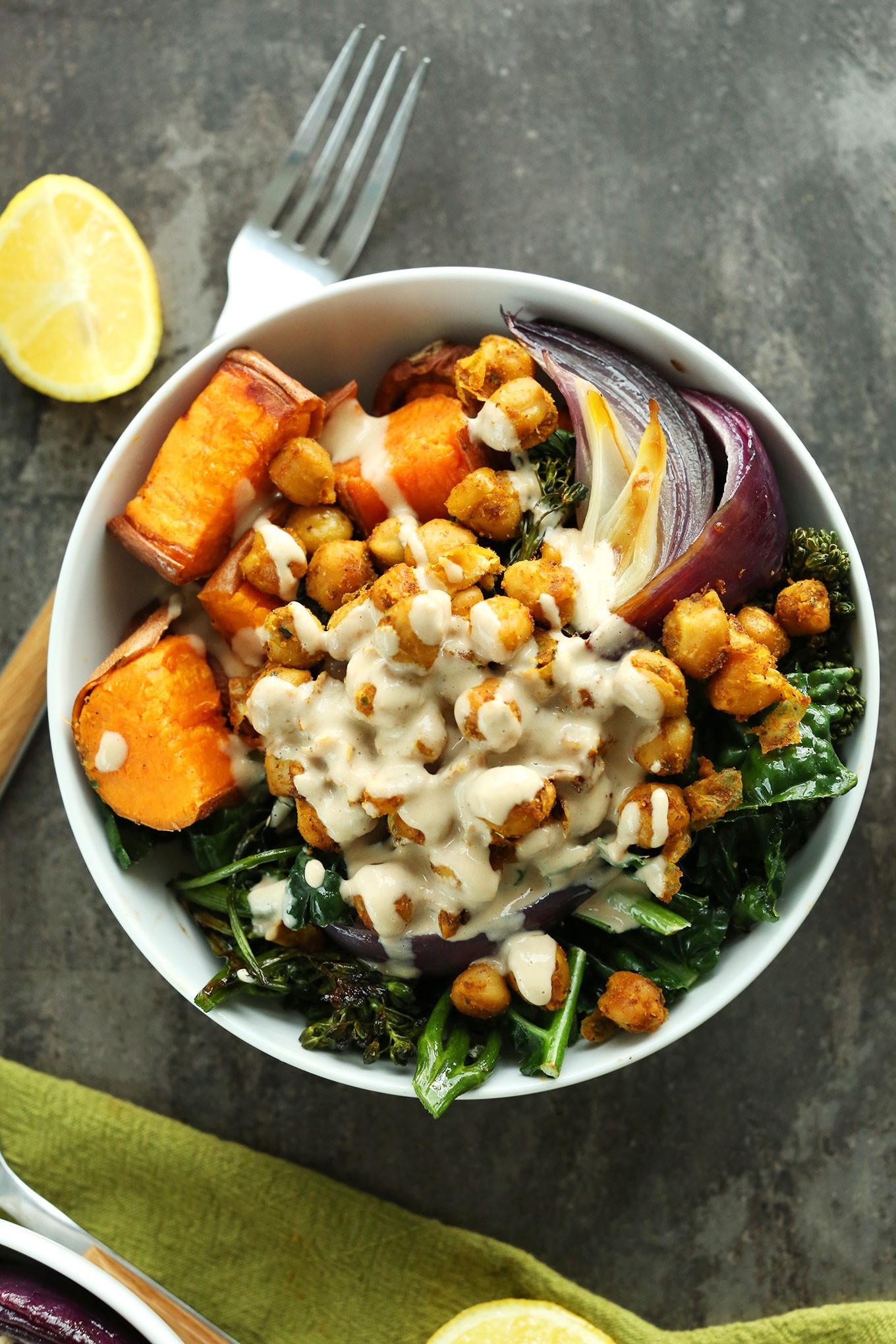 Vegan Protein Bowl Recipes  Sweet Potato Chickpea Buddha Bowl