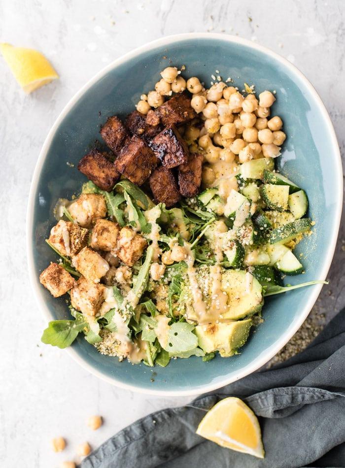 Vegan Protein Bowl Recipes  Vegan Protein Salad Bowl Running on Real Food