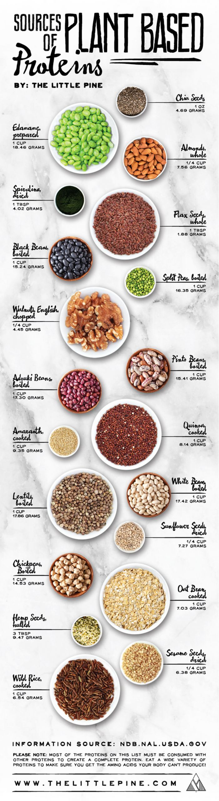 Vegan Protein List  20 Best Sources of Plant Based Protein [Infographic]
