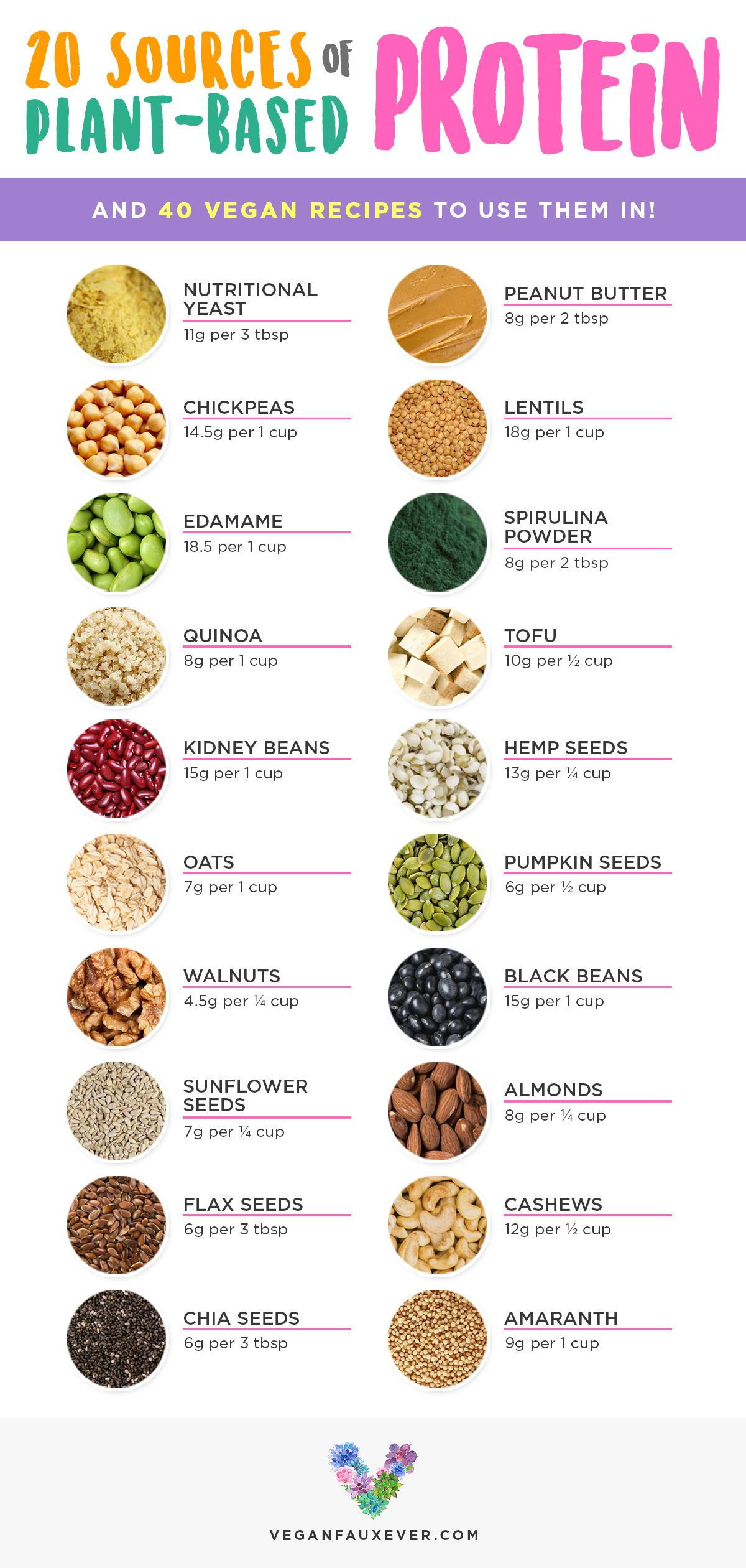 Vegan Protein List  20 Vegan Protein Sources and How to Incorporate Them Into