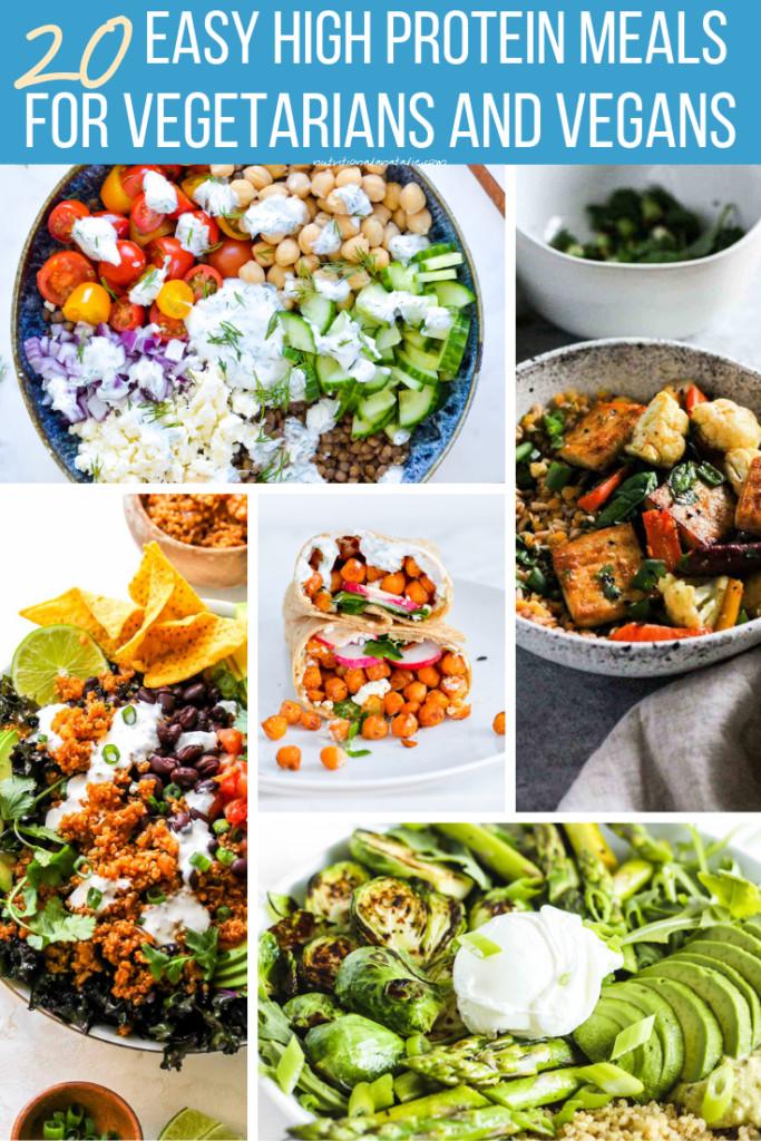 Vegan Protein Lunch Ideas  20 High Protein Vegan & Ve arian Lunch & Dinner Recipes