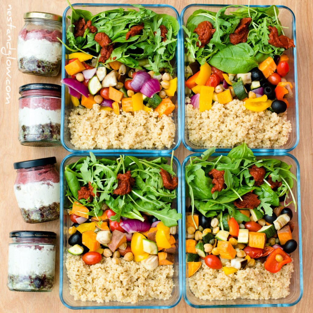 Vegan Protein Lunch Ideas  Easy High Protein Vegan Meal Prep Recipes Nest and Glow