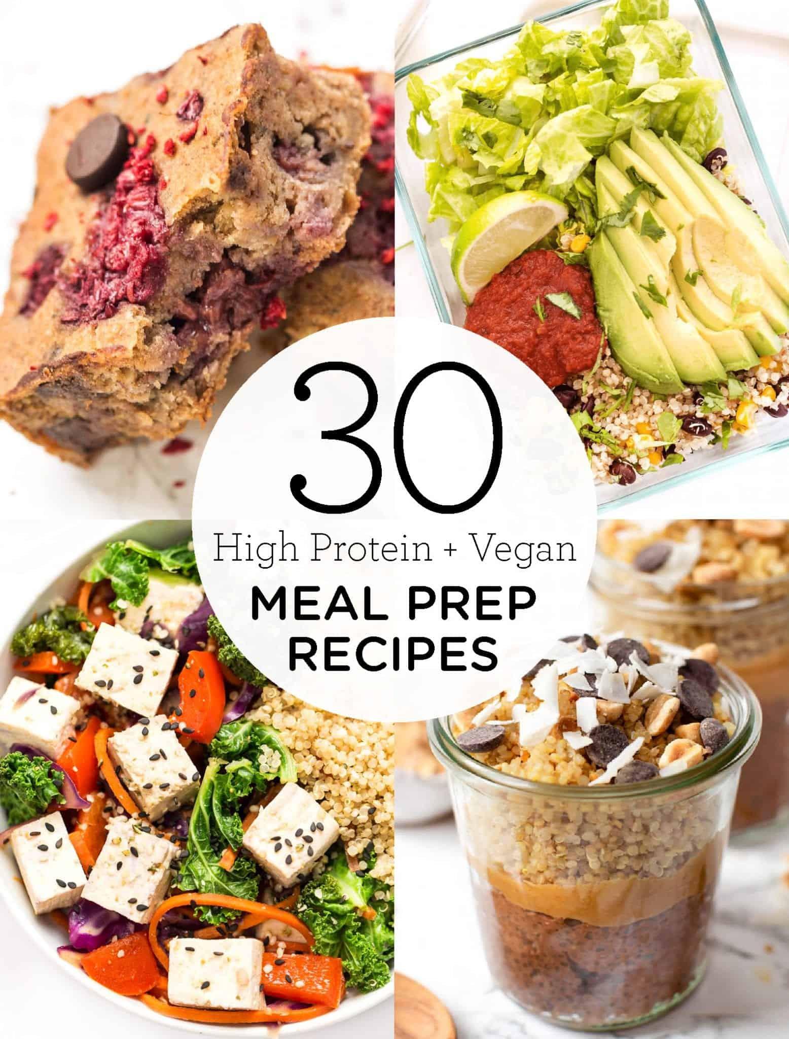 Vegan Protein Lunch Ideas  30 High Protein Vegan Meal Prep Recipes Simply Quinoa