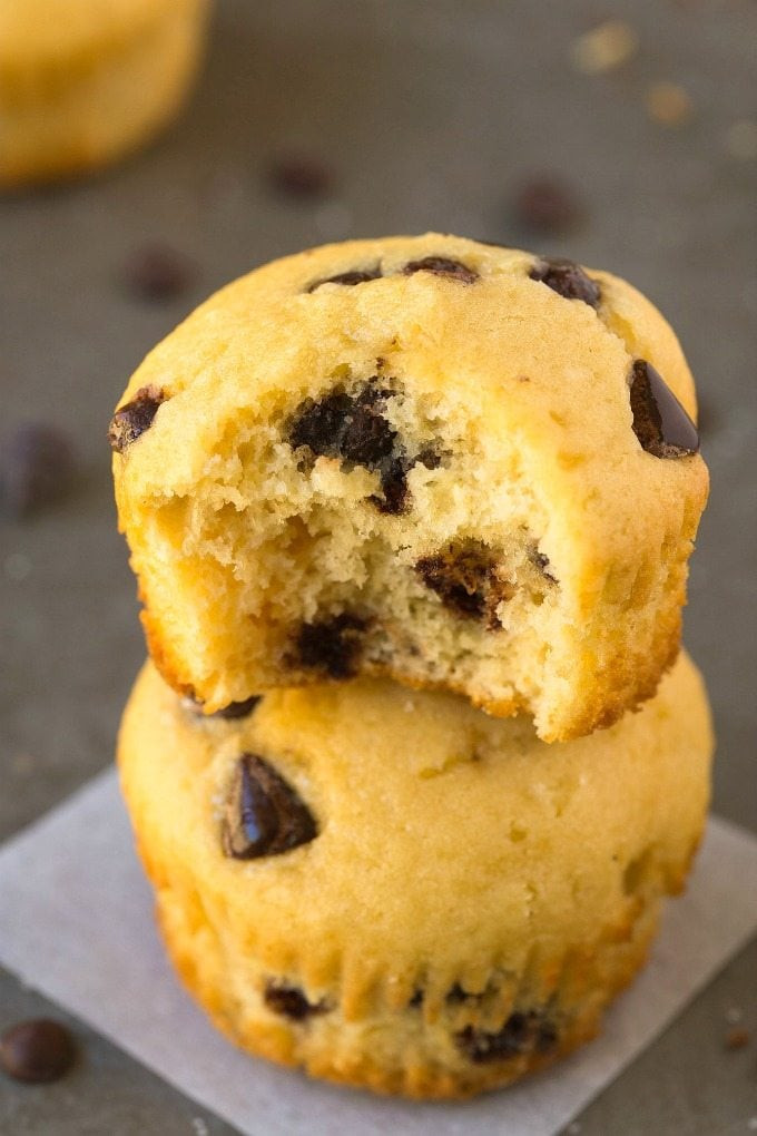 Vegan Protein Muffins Healthy  5 Ingre nt Chocolate Chip Protein Muffins Low Carb