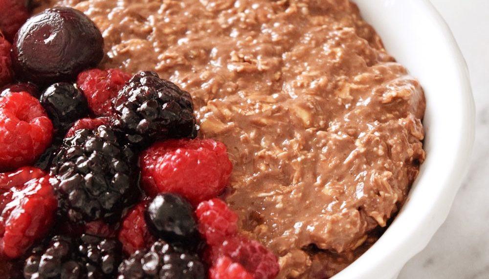 Vegan Protein Overnight Oats  Vegan Chocolate Protein Overnight Oats Beaming Banana
