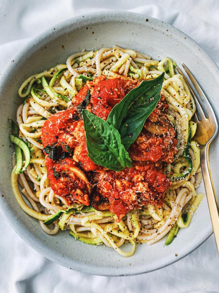 Vegan Protein Pasta  High Protein Ve arian Pasta With Tempeh Tomato Sauce