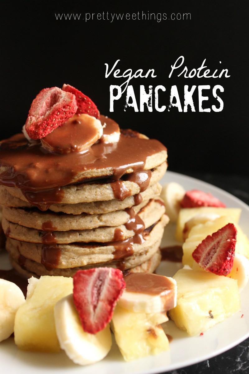 Vegan Protein Powder Pancakes  Vegan protein pancakes Her Nourished