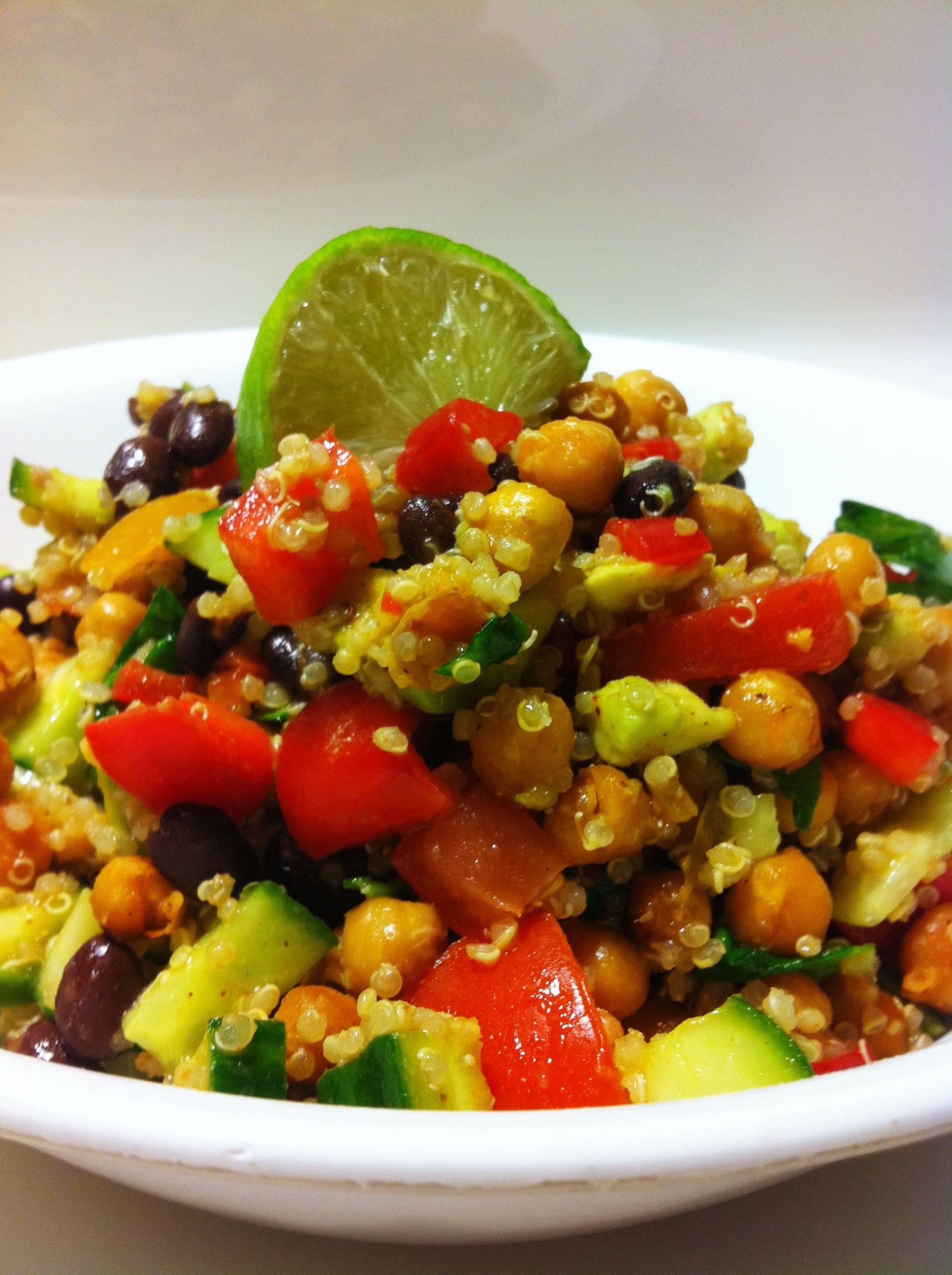 Vegan Protein Salad Recipes  High Protein Vegan Fiesta Salad