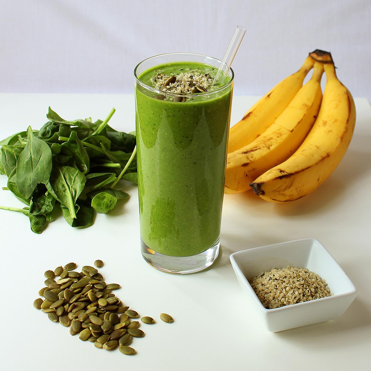 Vegan Protein Smoothie  Green Protein Power Breakfast Smoothie I LOVE VEGAN