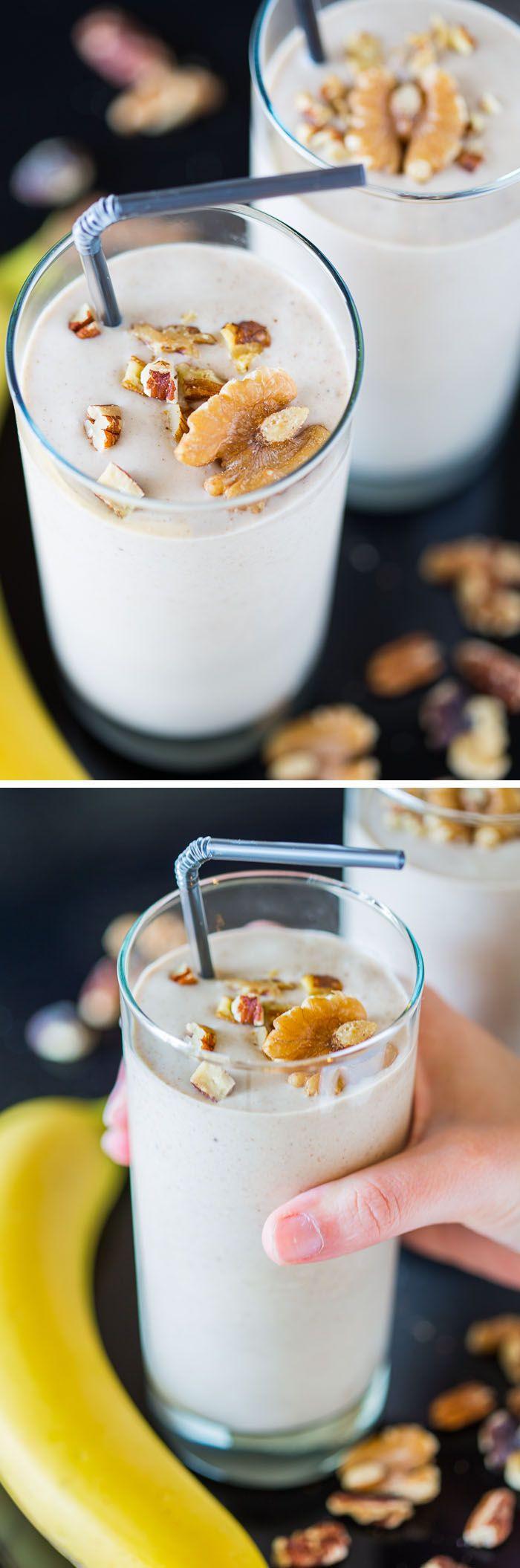 Vegan Protein Smoothie Recipes  Banana Nut Crunch Smoothie vegan refined sugar free