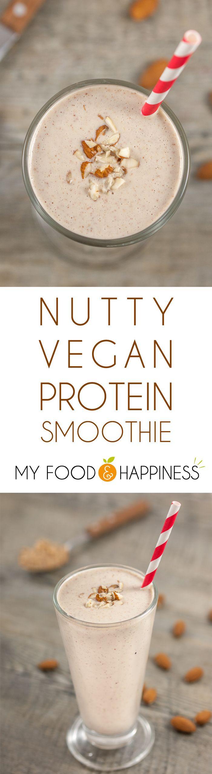 Vegan Protein Smoothie Recipes  Nutty vegan protein smoothie Recipe