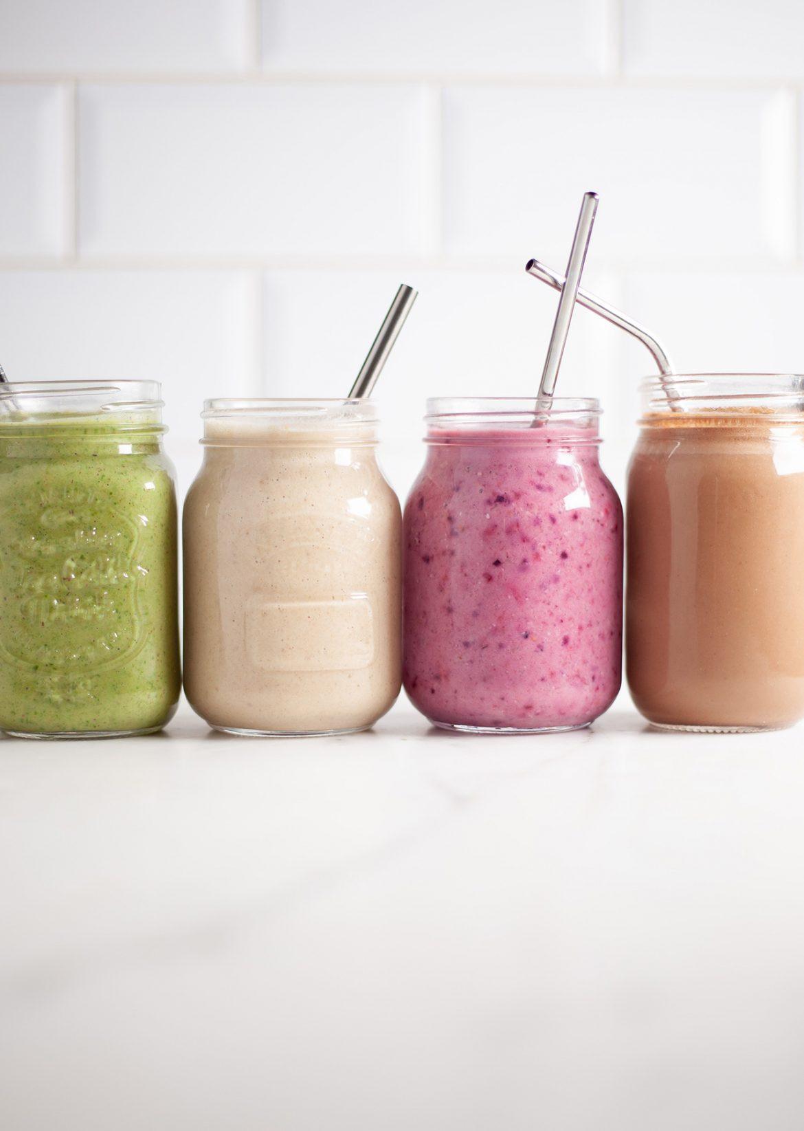 Vegan Protein Smoothie  Plant Powered Protein Smoothies 4 Ways So Vegan
