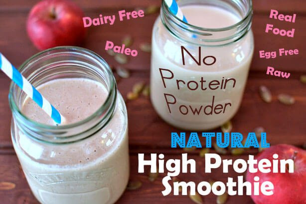Vegan Protein Smoothie Without Powder  How to make a Natural Protein Shake without Protein Powder