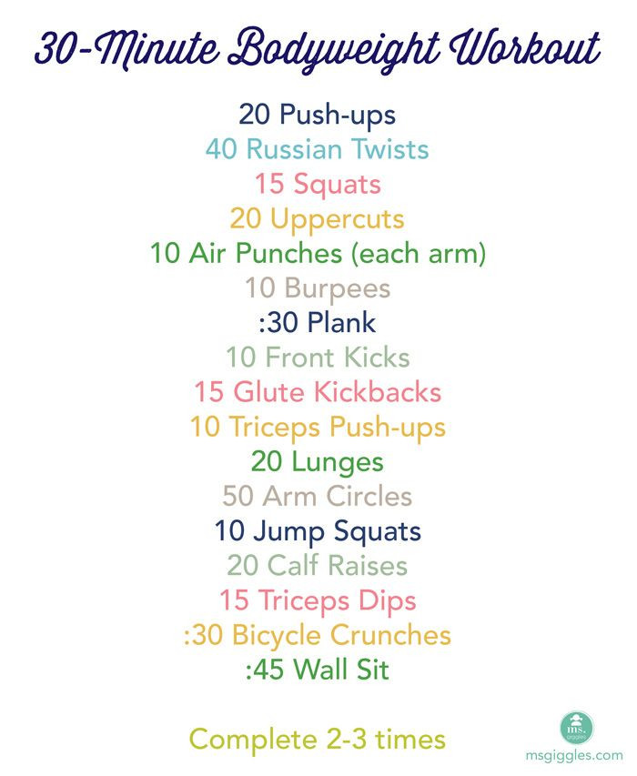 Weight Loss Exercises At Home For Women  30 Minute Home Bodyweight Workout This will help me