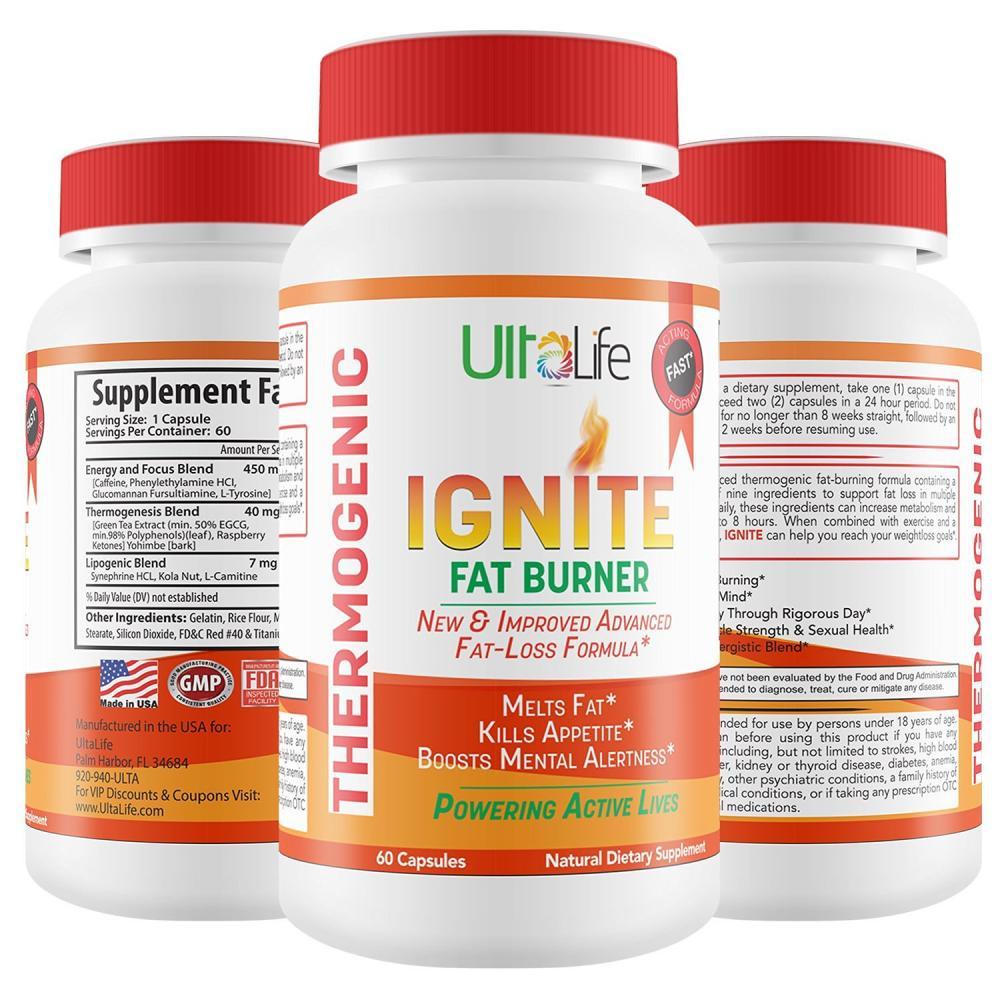 Weight Loss Supplements For Women Fat Burning  Buy Ignite s 60 Day Fat Burning Weight Loss Diet Pills for