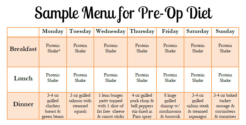 Weight Loss Surgery Meal Plan  Pin on south beach t